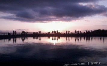 Senja dan Sunset di Embung Nglenggeran