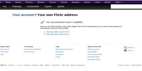 Inilah Cara Mengganti Alamat URL Pada Flickr