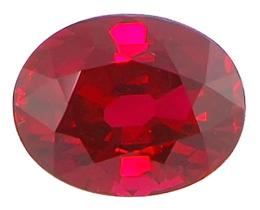 Batu Merah Delima yang telah diolah sebagai bahan baku cincin