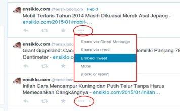 Cara Menempelkan Kicauan Twitter Pada Artikel