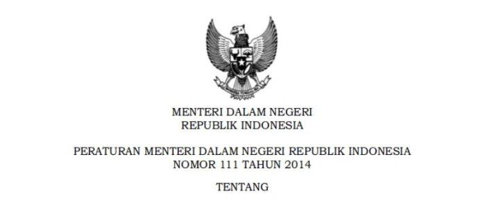 Permendagri Nomor 111 Hingga 114 Tahun 2014 Tentang Desa dan Desa Adat