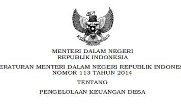 Permendagri Nomor 113 Tahun 2014 Tentang Pengelolaan Keuangan Desa