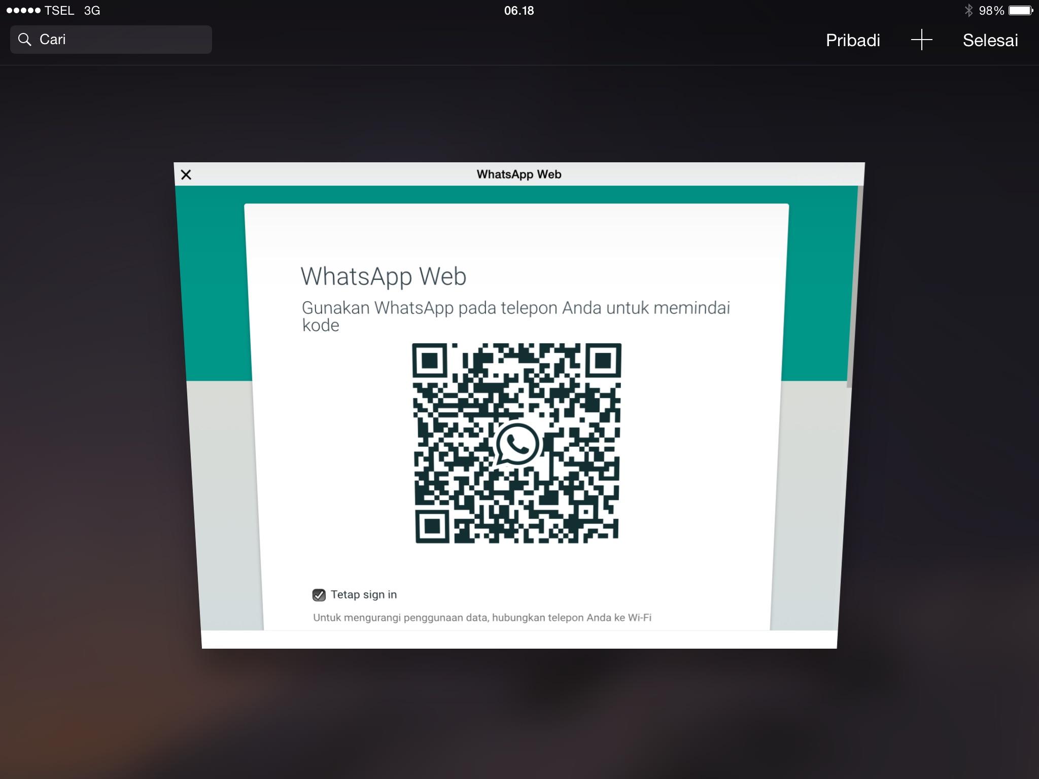 Menggunakan WhatsApp pada Ipad tanpa Jailbreak