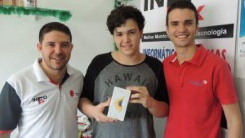 Gustavo ganhou o primeiro lugar no concurso