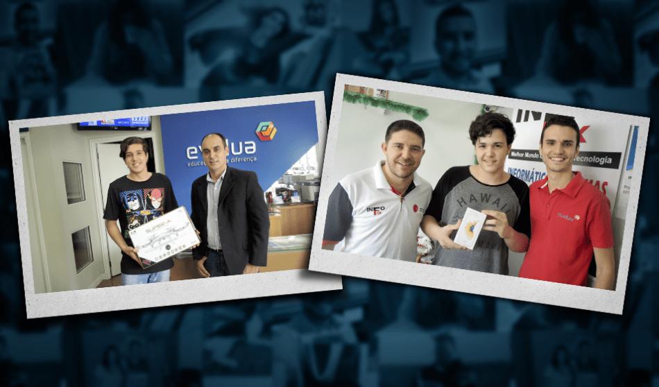 Evolua Educação entrega prêmios do Concurso Cultural #PartiuEstudar