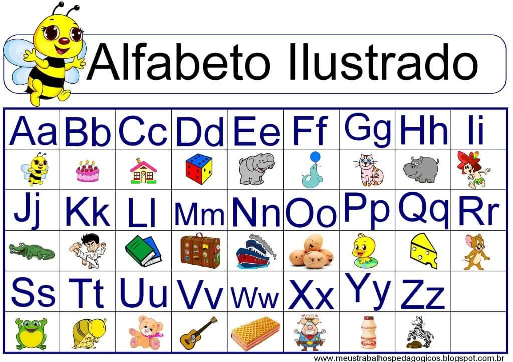 alfabeto ilustrado para imprimir maiusculas minusculas