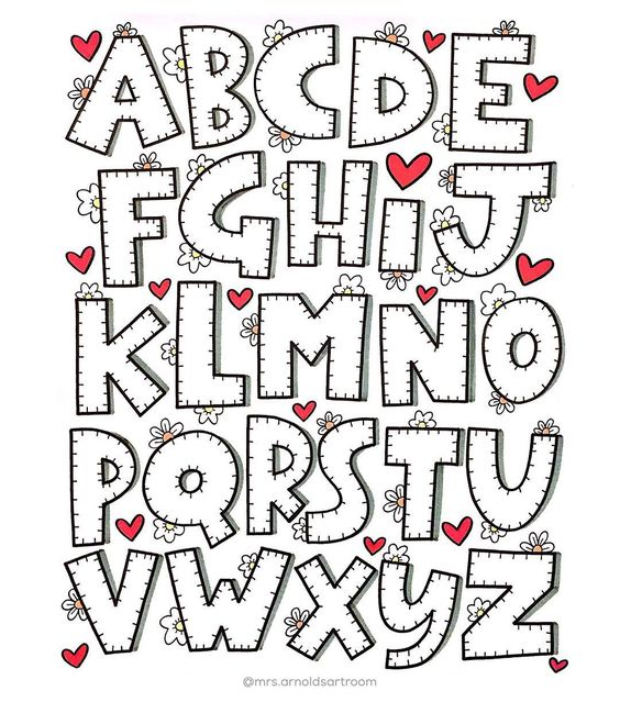 molde alfabeto completo abecedario imprimir