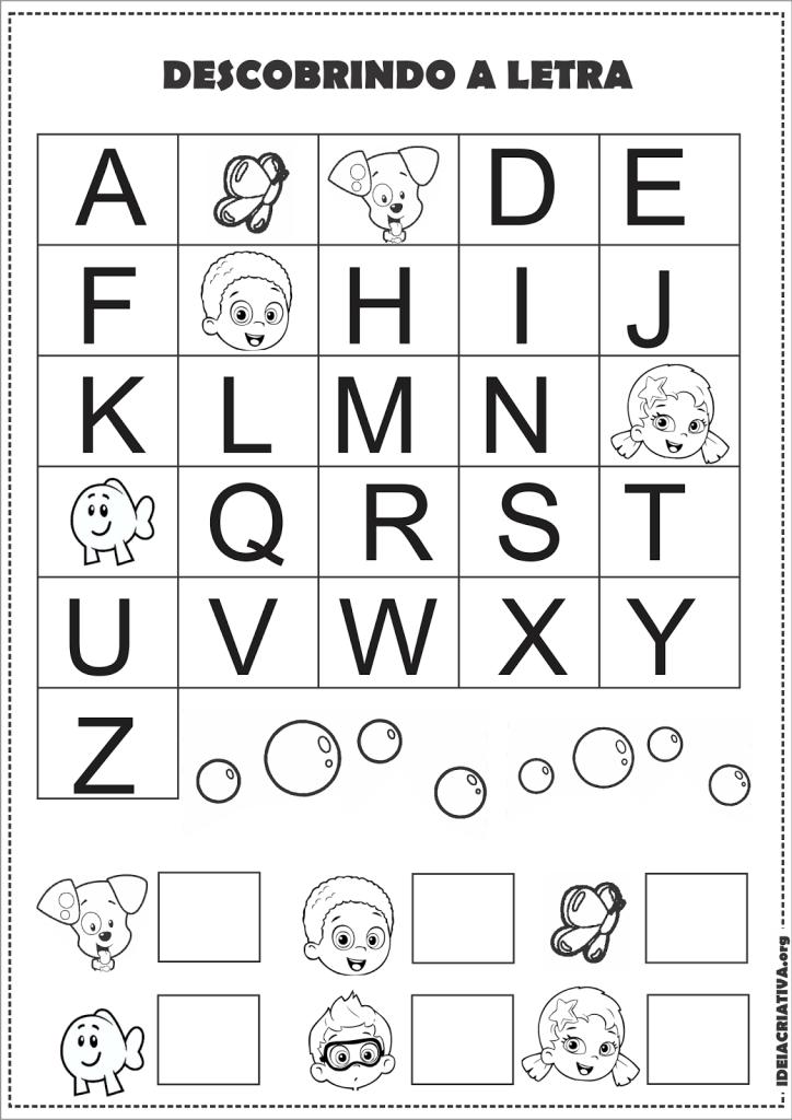 descobrindo e colorindo a letra