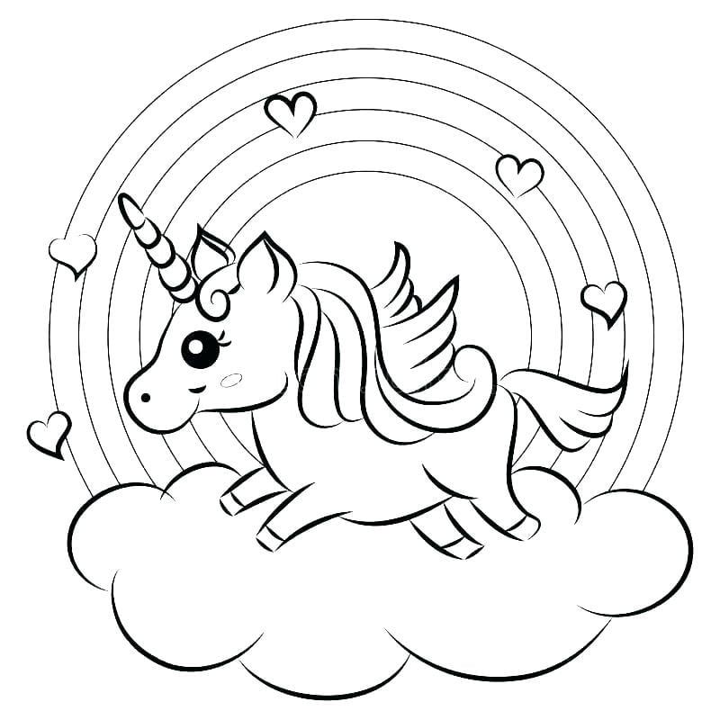desenho de unicornio para colorir kawaii