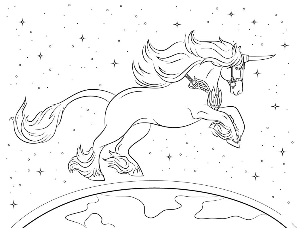 unicornio para pintar imprimir