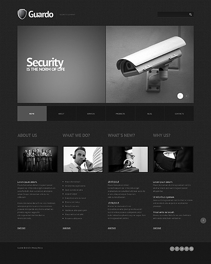 black WordPress themes