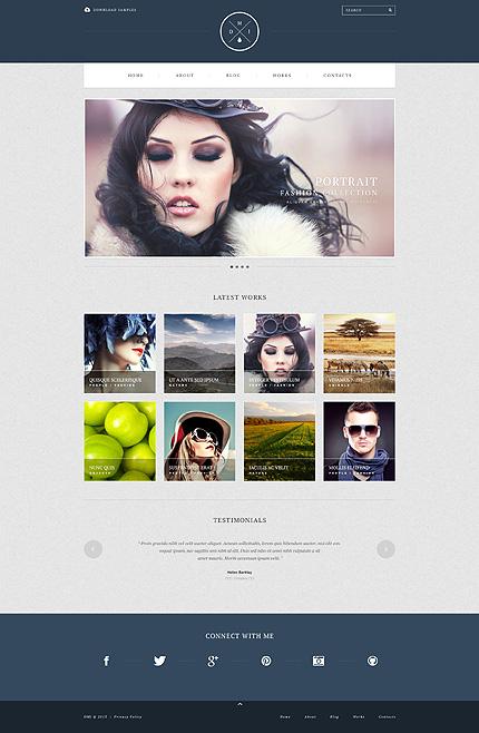Simple Photographer Portfolio WordPress Theme