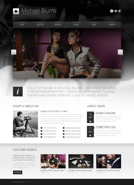 Photographer's Works WordPress Theme