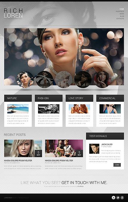 Fashionable Photographer Portfolio WordPress Theme