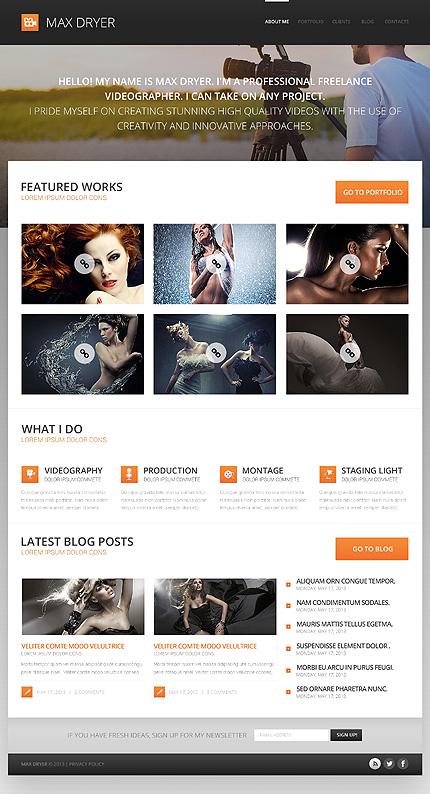 Photographer Portfolio for Profit WordPress Theme