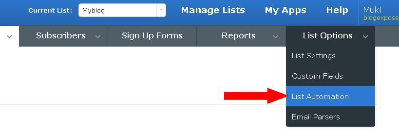 aweber list automation