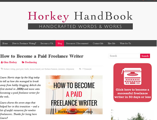 freelance writer horkey
