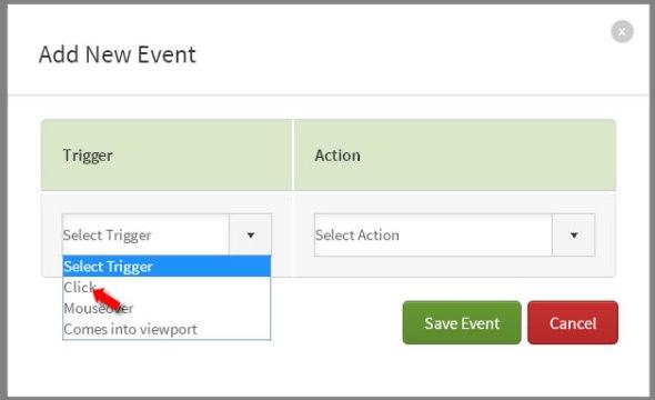 light box add event click