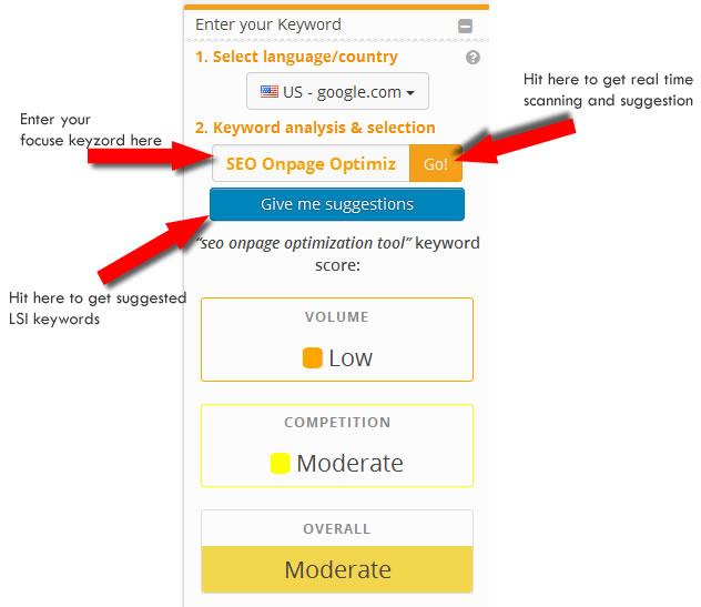 seo onpage optimization online tool