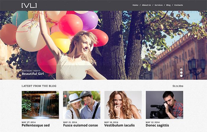 Happy Moments Videography WordPress Theme