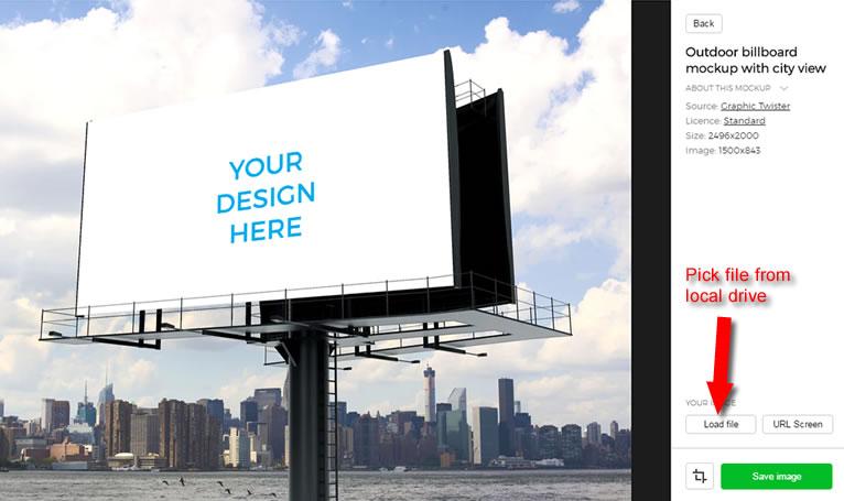 advertising mockup template