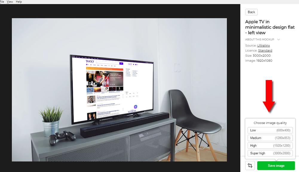 product tv mockup