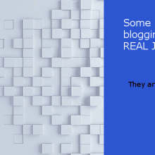 blogging is a real job