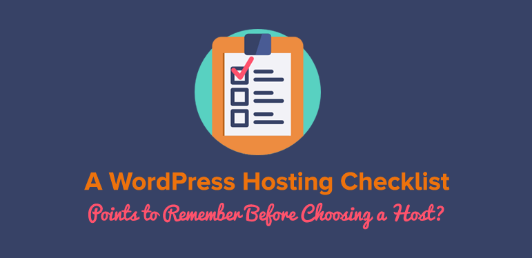 WordPress Hosting Checklist