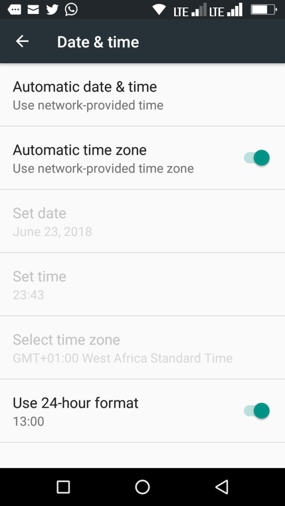 your phone date is inaccurate adjust your clock and try again