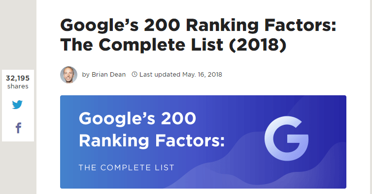 200 ranking factors