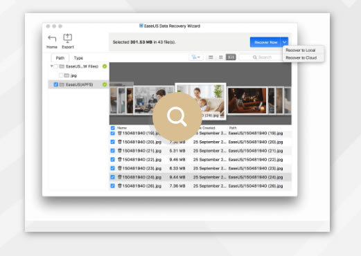 easeUS file recovery software for mac users
