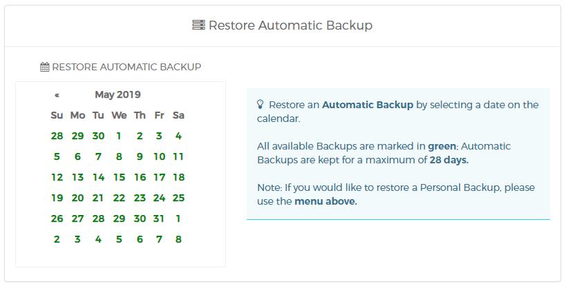 automatic backup