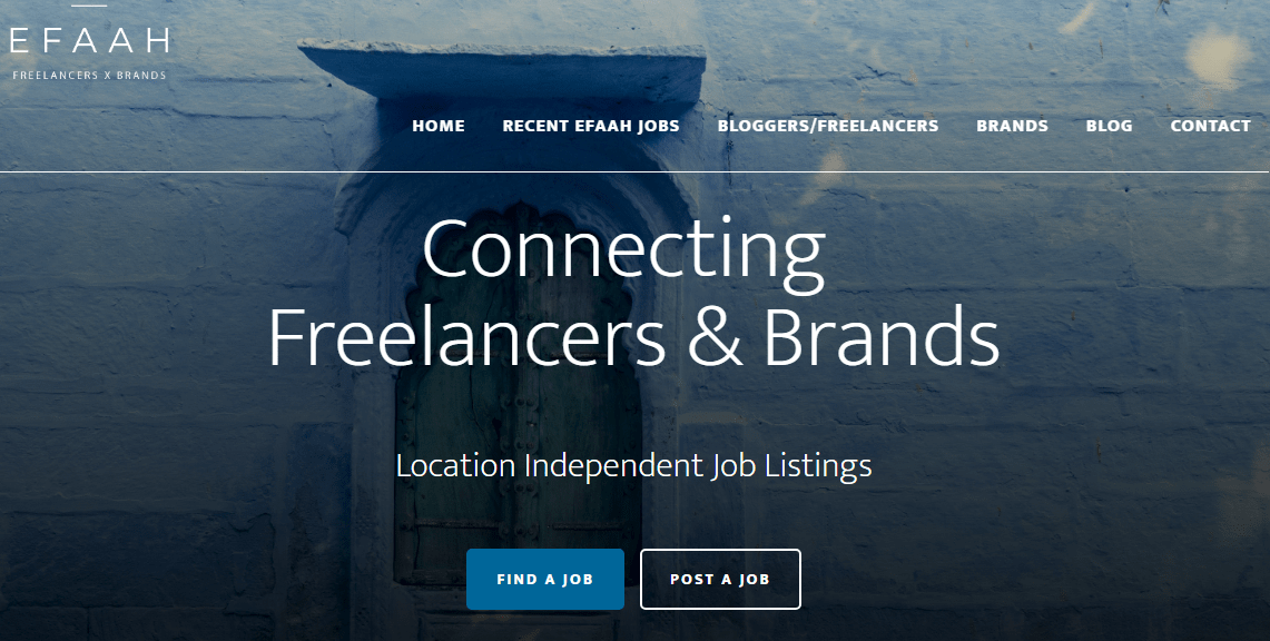 efaah job board for bloggers and brands