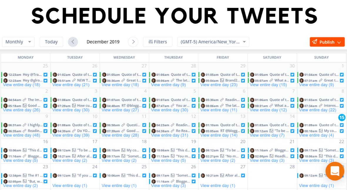 schedule tweet on twitter
