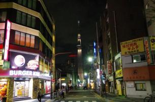 On The ' Tower View Street ' in Kinshicho Tokyo