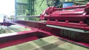 ロックボルト工 吊り式削孔機