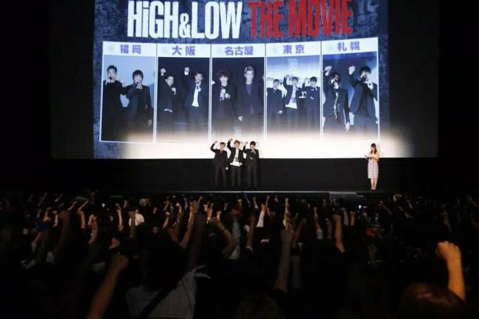 映画『HiGH&LOW THE MOVIE』初日舞台挨拶より ©2016「HiGH&LOW」製作委員会