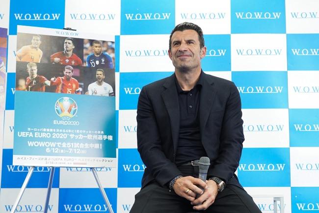 WOWOWサッカーの1日宣伝部長として来日した元ポルトガル代表ルイス・フィーゴが、ユーロ2020&クラシコの魅力を発信!