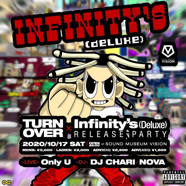 TURN OVER × Infinity's (Deluxe) RELEASE PARY