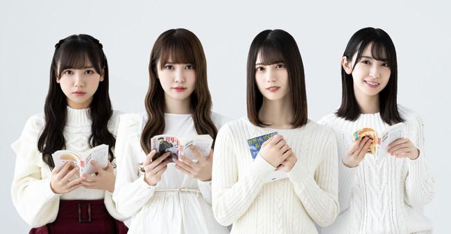 左から齊藤京子、加藤史帆、小坂菜緒、金村美玖    photo by  Yosuke Kamiyama,Yukimi Nishi