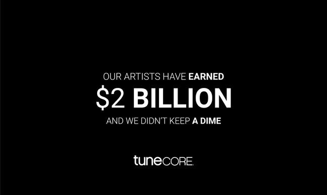 TuneCore (US)の利用アーティストへの還元額が累計2,000億円を突破