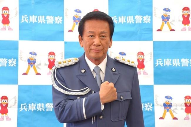 杉良太郎特別防犯対策監が兵庫県警察本部で広報啓発「家族みんなで詐欺被害ゼロ県に」