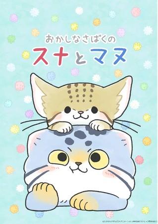 """2021年は""""かわいいネコ""""たちに癒されたい!ショートアニメ番組「おかしなさばくのスナとマヌ」2月スタート"""