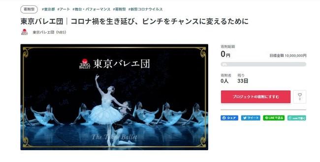 ピンチをチャンスに! 創立57年を誇る名門、東京バレエ団が初のクラウドファンディングを実施