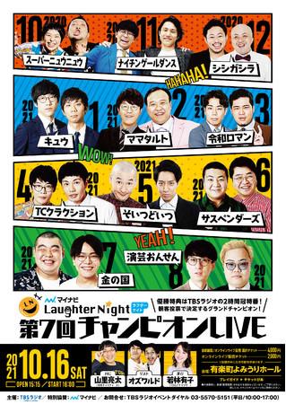 TBSラジオ冠特番争奪「マイナビ Laughter Night」第7回チャンピオンLIVE開催