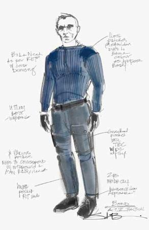 N.ピールの『007/ノー・タイム・トゥ・ダイ』コスチュームのデザイン原画