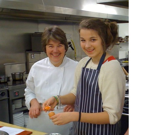 Culinary school Edinburgh teaching students during cookery course Scotland