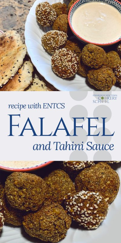 Pinnable Falafel and Tahini Sauce Recipe from ENTCS