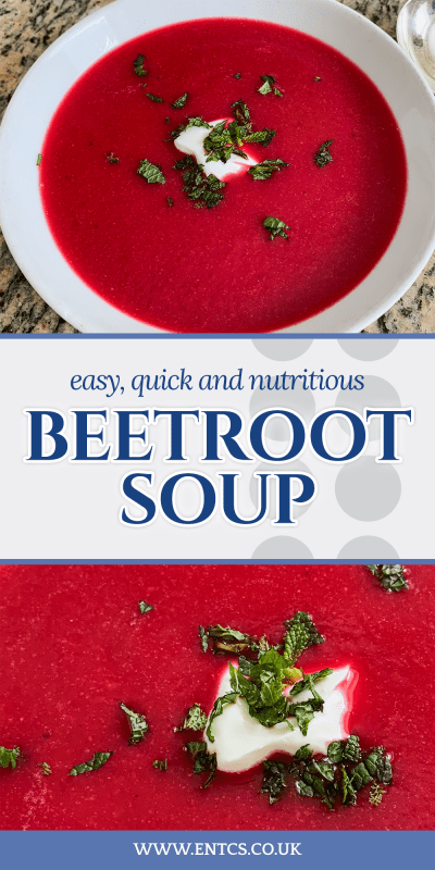 Roasted Beetroot Soup Recipe for Pinterest