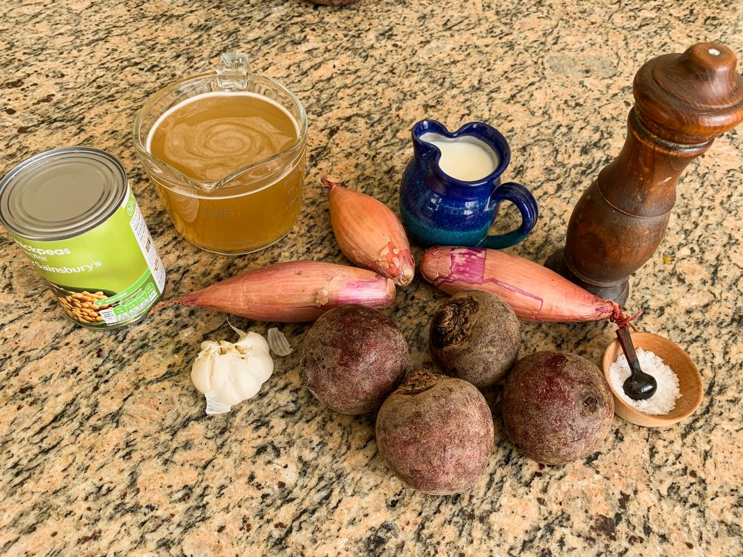 Ingredients for Roasted Beetroot Soup with Shallot and Garlic